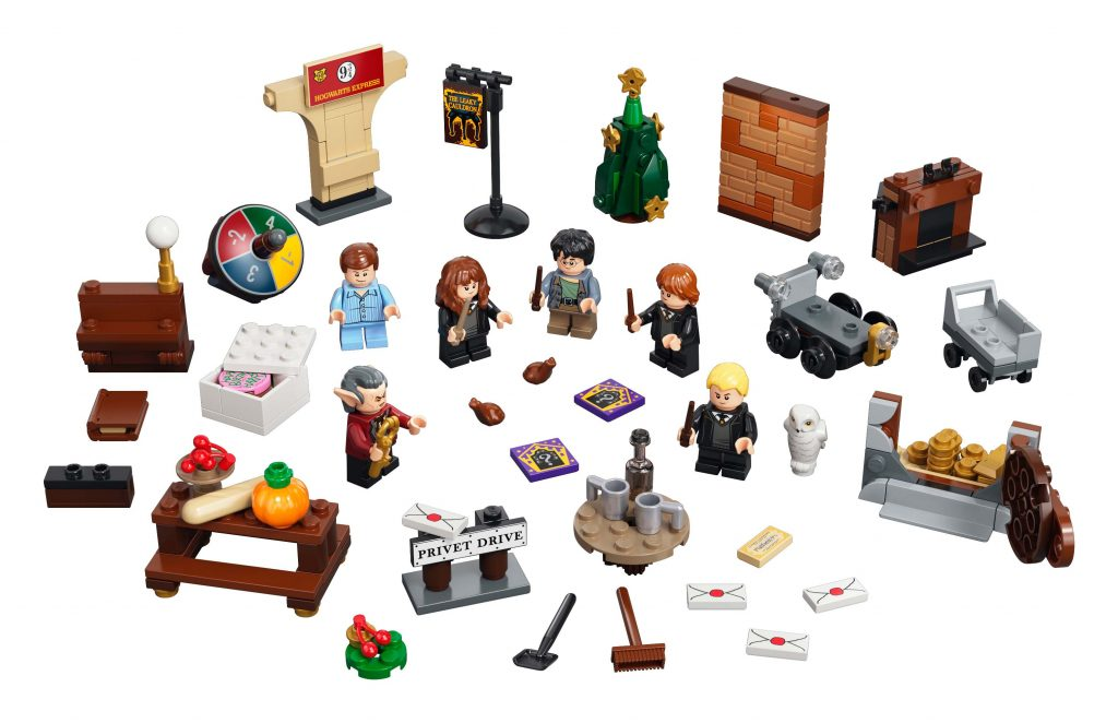 LEGO® Harry Potter™ Advent Calendar [76390] Pieces: 274 Minifigures: 6 [Harry Potter, Ron Weasley™, Hermione Granger™, Draco Malfoy™, Dudley Dursley and Griphook] Price: AUD 49.99 https://www.lego.com/en-au/product/lego-harry-potter-advent-calendar-76390